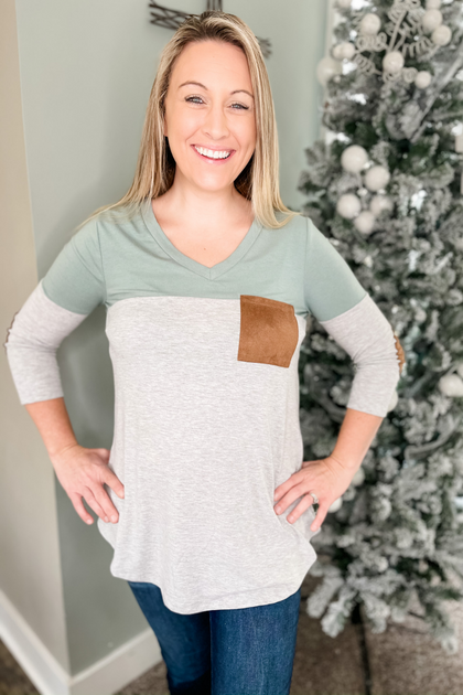 Winter Bliss Long Sleeve Green Top