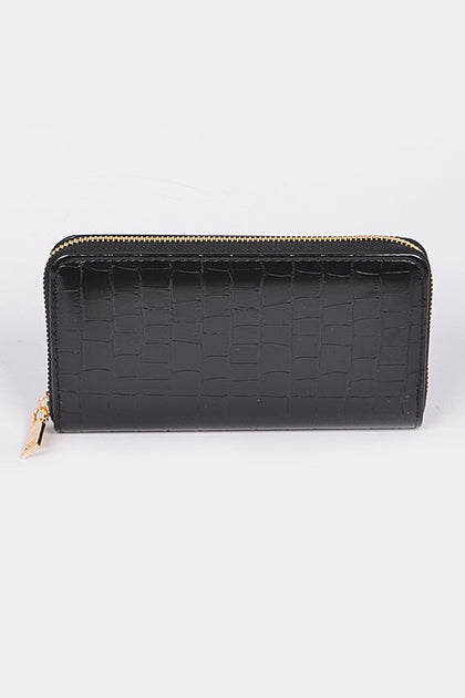 Snake Skin Wallet Black - Bella Grace Boutique