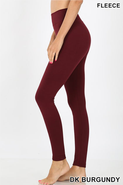 Cheerful Beginnings Dark Burgundy Leggings - Bella Grace Boutique