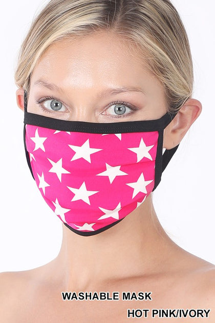 Dancing Stars Pink Mask - Bella Grace Boutique