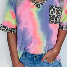 Load image into Gallery viewer, Hypnotize Me Tie Dye Leopard Top - Bella Grace Boutique