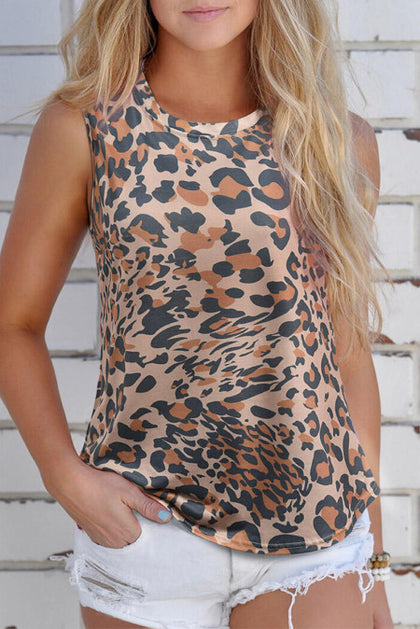 Leopard All Around Hollow Out Back - Bella Grace Boutique