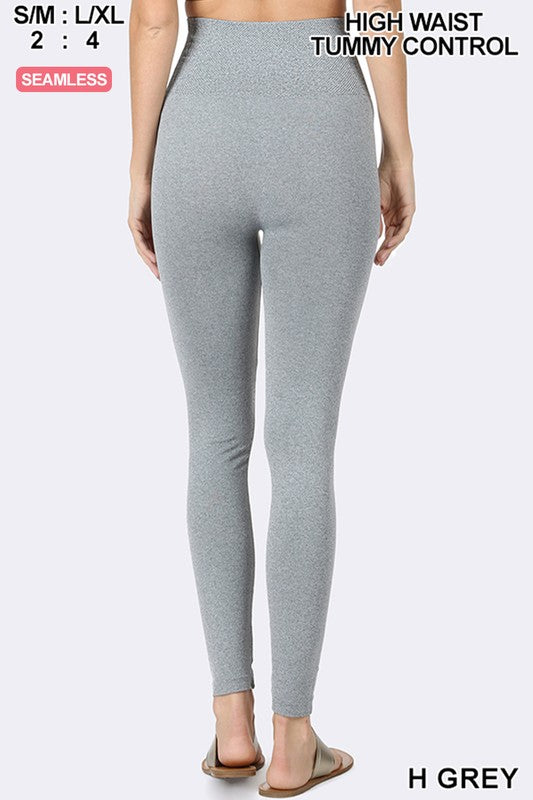Moving On Up Solid Heathered Grey Leggings