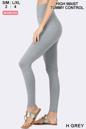 Moving On Up Solid Heathered Grey Leggings - Bella Grace Boutique