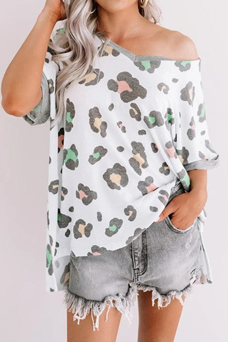 Party Animal Multi Colored Animal Print Top