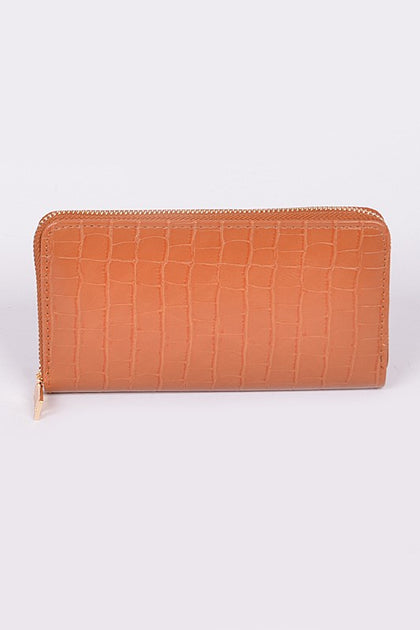 Snake Skin Camel Wallet - Bella Grace Boutique