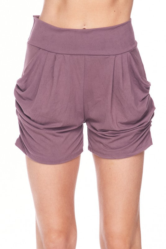 Sweet Nothings Solid Mauve Harem Shorts
