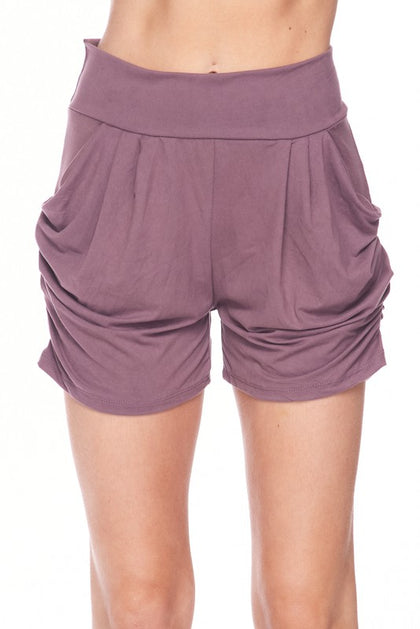 Sweet Nothings Solid Mauve Harem Shorts - Bella Grace Boutique