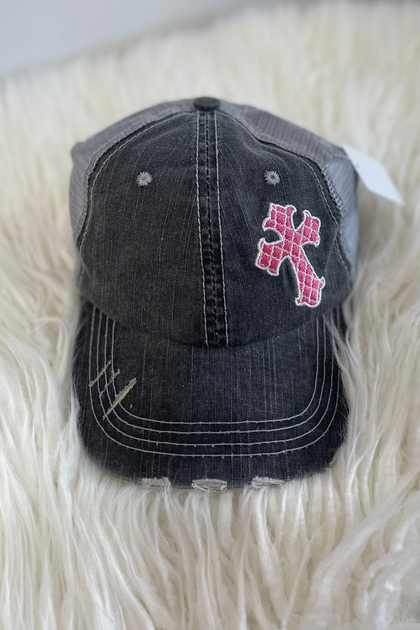 Pink Cross Trucker Hat