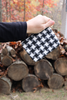 Houndstooth Black and White Coin Bag