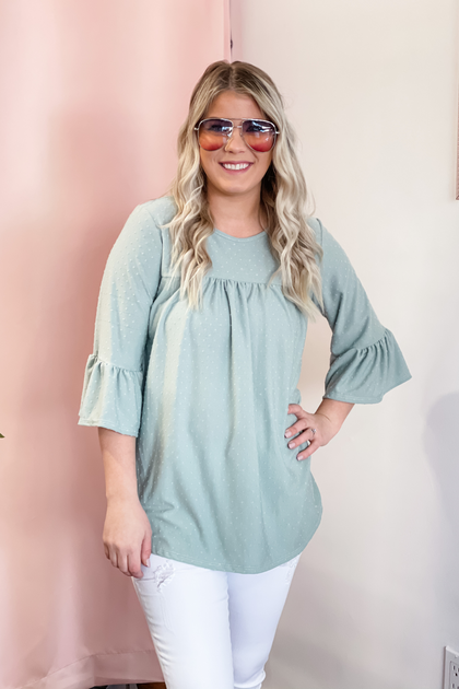 Mint To Be Bell Sleeves Top