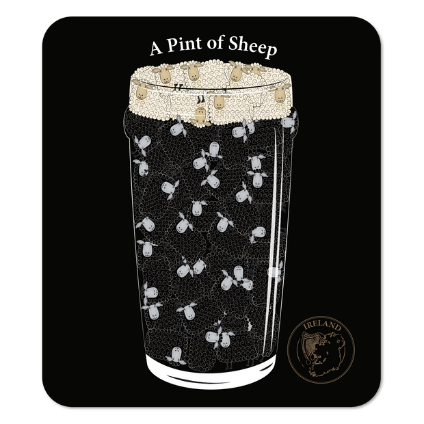 Pint of Sheep Coaster