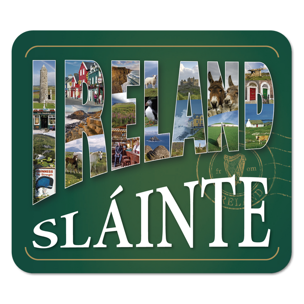Ireland in Text Sláinte Coaster