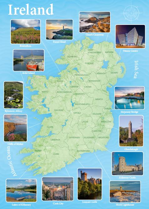 Ireland Map Pin-Up