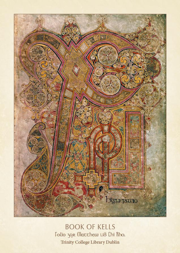 Folio 34 Matthew Book of Kells Pin-Up