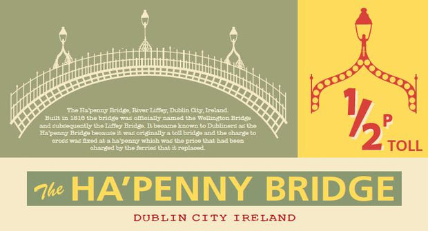 Ha'penny Bridge Pin-Up