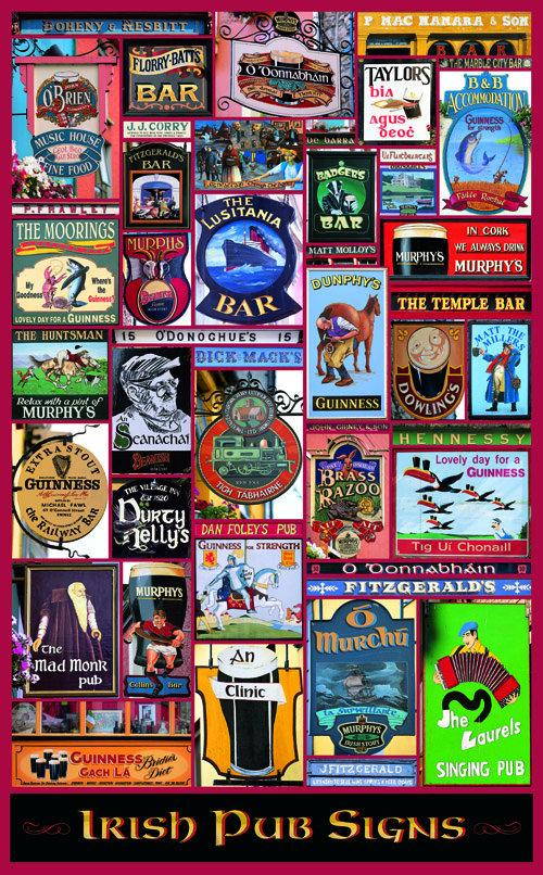 Irish Pub Signs Poster
