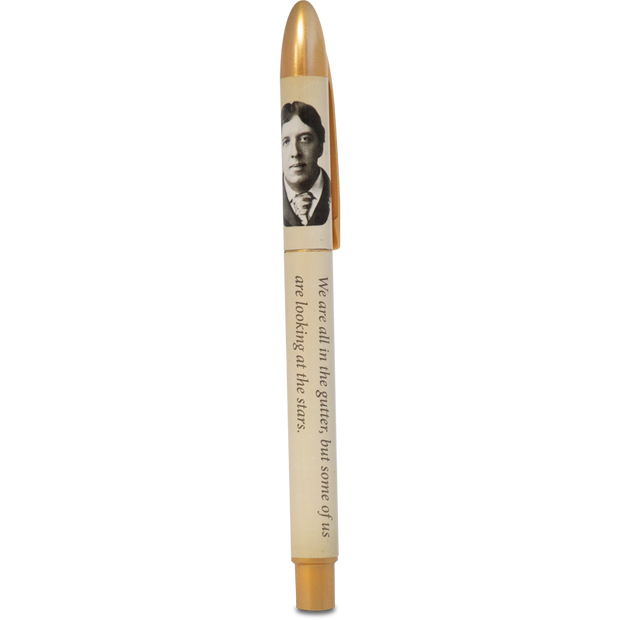 Oscar Wilde - Cream/Gold Pen