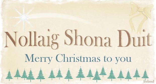 Nollaig Shona Duit Pin-Up