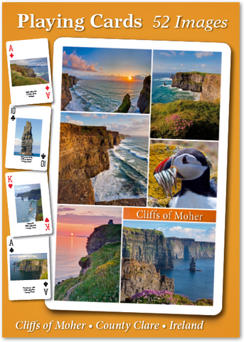 Cliffs of Moher Playing Cards - 52 Images