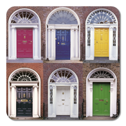 Doors of Dublin Coasters
