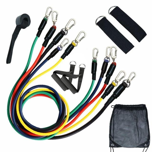 11Pcs Fitness Resistance Bands - Deals Dayz