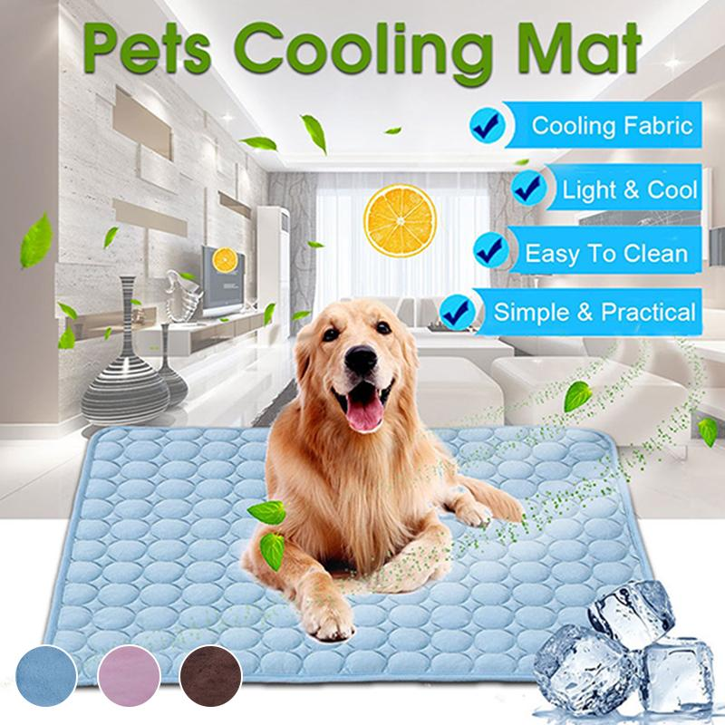 Cooling Mat Pad for Dogs Cats Ice Silk Mat Cooling Blanket Cushion - ObeyKart