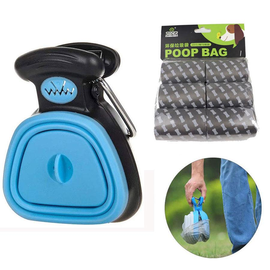 Dog Poop Bag Dispenser Travel Foldable Pooper Scooper Poop - ObeyKart