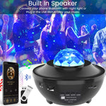 Star Projector Night Light with Sky Laser Ocean Starry Projector and Bluetooth Speaker