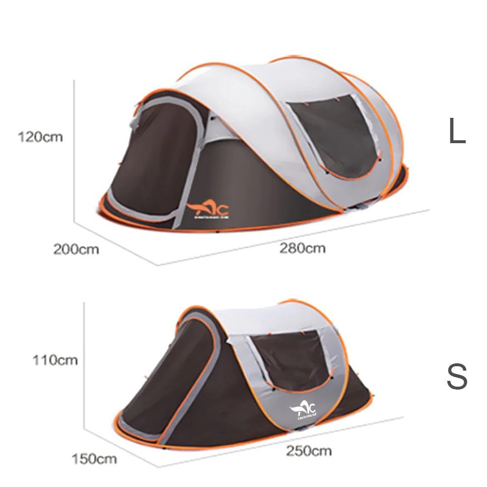 All Weather Camping Pop Up Tent - Waterproof UV Resistant Camping
