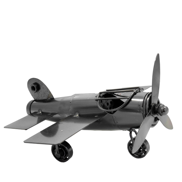 New Metal Bolts and Nuts Figurines Aircraft Propeller Plane 18 x 18 x11 cm