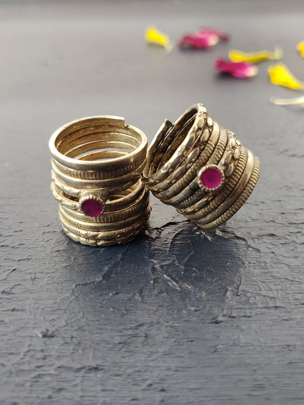 Navratri Collection Silver Finish Rings