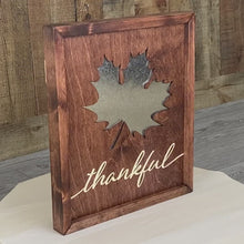 Load and play video in Gallery viewer, Fall Leaf Sign - Galvanized Metal and Wood Sign
