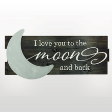 Load image into Gallery viewer, Lighted 3D Moon and Back Sign