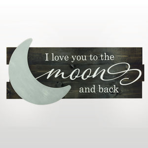 Lighted 3D Moon and Back Sign