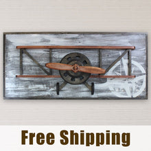 Load image into Gallery viewer, Vintage Biplane Decor