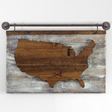 Load image into Gallery viewer, Lighted Wood US Map