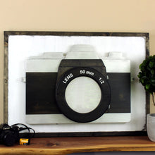 Load image into Gallery viewer, Lighted Camera Wall Art