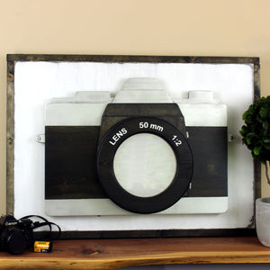 Lighted Camera Wall Art