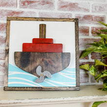 Load image into Gallery viewer, 3D Wood Ship Decor