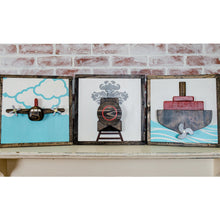 Load image into Gallery viewer, 3D Transportation Nursery Set of Three