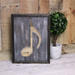 Rustic Musical Note Art From Reclaimed Wood