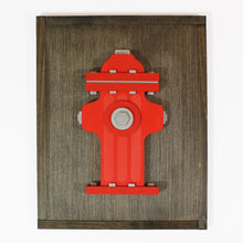 Load image into Gallery viewer, 3D Wooden Fire Hydrant Sign