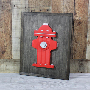 3D Wooden Fire Hydrant Sign