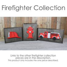 Load image into Gallery viewer, 3D Wooden Fire Helmet Sign