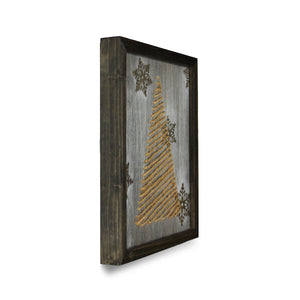 Twine Zig Zag Christmas Tree Wall Art