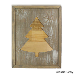 Framed Rustic Christmas Tree Sign from Reclaimed Wood
