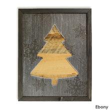 Load image into Gallery viewer, Framed Rustic Christmas Tree Sign from Reclaimed Wood