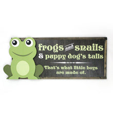 Load image into Gallery viewer, Frogs and Snails Boys Room Decor