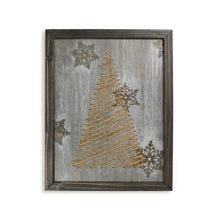 Load image into Gallery viewer, Twine Zig Zag Christmas Tree Wall Art